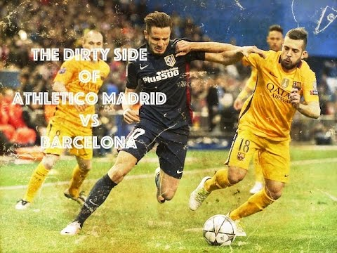 The Dirty Side of Barcelona vs Atletico Madrid - Fights, Fouls, Dives and Red Cards