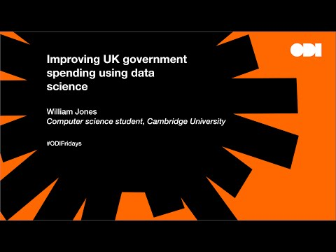 Friday lunchtime lecture: Improving UK government spending using data science