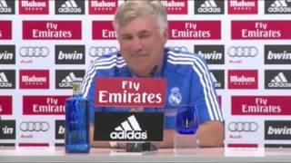 Carlo Ancelotti's problems with English