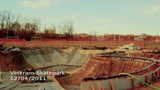 Construction Update #1: Veterans Skatepark 12/4/11 - Woodbridge, Va - Thunderwood