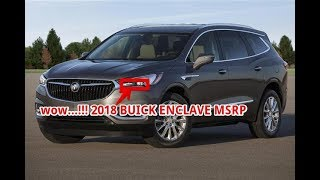 wow...!!! 2018 buick enclave msrp