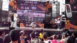 LG Championship 2007 Douglas Rivero bboy long, b girl estrellita, bboy chipi