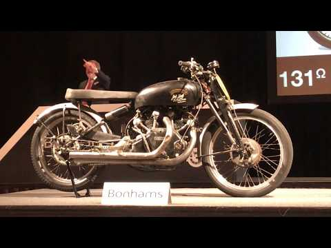 World Record!  Vincent Black Lightning Auction - $929,000!