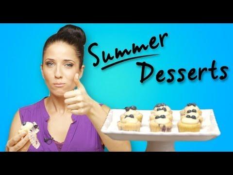 Lemon Blueberry Cupcakes - Laura Vitale Summer Desserts Unplugged