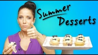 Lemon Blueberry Cupcakes - Laura Vitale Summer Desserts Unplugged