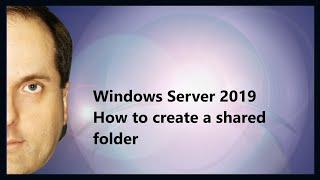 Windows Server 2019 het maken van een gedeelde map
