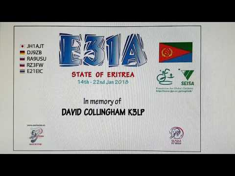 E31A, Eritrea AFRICA, 2018, 7MHz, CW, Worked by HL2WA