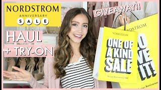 HUGE NORDSTROM ANNIVERSARY SALE  2018 HAUL +TRY ON | + GIVEAWAY!!