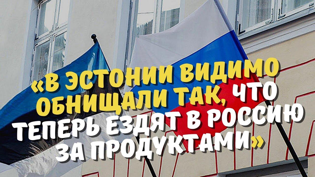 «В Эстонии видимо обнищали так, что теперь ездят в Россию за продуктами»