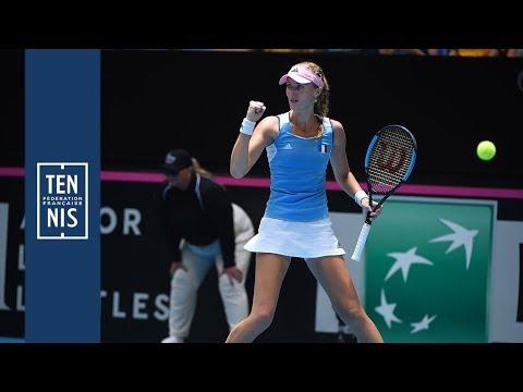 Finale Fed Cup Australie-France : le résumé de Mladenovic - Tomljanovic | FFT