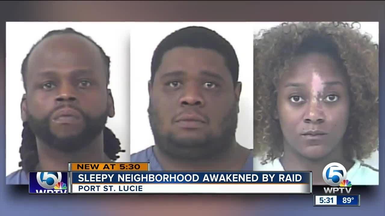 3 people arrested in Port St  Lucie drug raid