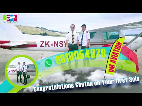 HM AVIATION INDIA - Pilot License,s | First solo | Pilot Training..!