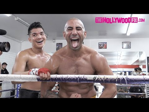 FouseyTube Knocks Out Alex Wassabi During A Sparring Match At Ten Goose Boxing Gym 8.23.19