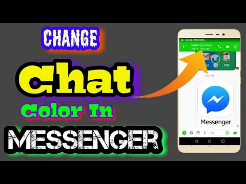 How To Change The Color Of Conversation/Message/Chat In Facebook Messenger