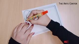 Christmas | Border Design on Paper | Practical Khata Design | File Decoration Idea The Arts Center