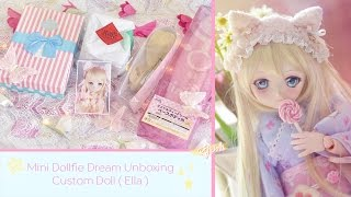 Mini Dollfie Dream Unboxing - Custom Doll ( Ella ) ♡