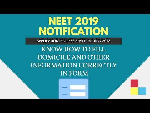 NEET 2019 : Important notification about filling NEET forms- 2019
