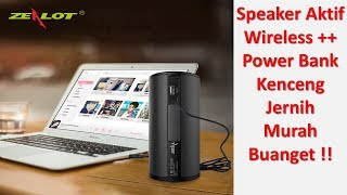 Speaker Bluetooth Dengan Powerbank 4000mAh - Zealot S8