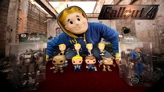 fallout 4 bobbleheads funko pop and action figure unboxing karcamo gaming