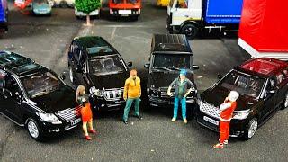 Бандитские тачки Гелик, Toyota, Lexus, Range Rover модельки машин Автопанорама 1/43! Про машинки!