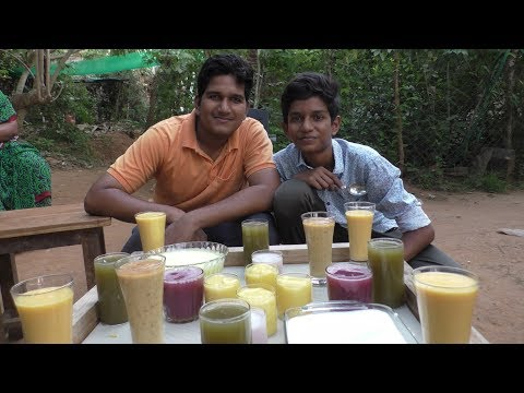 Village food factory / fresh Fruits juice Recipe / 6 fresh juices / Natural Karumbu juice
