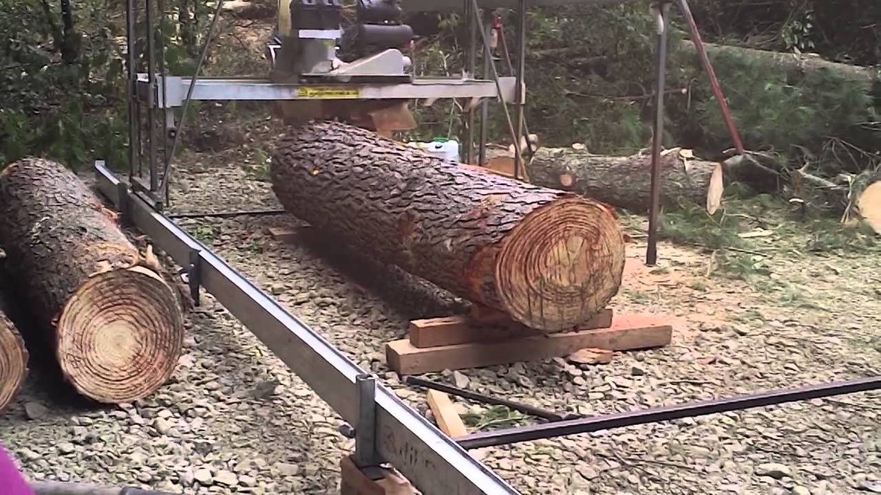 Milling a pine log with a 6 peterson saw mill youtube for Mill log