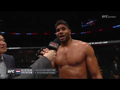 Fight Night Beijing: Alistair Overeem Octagon Interview