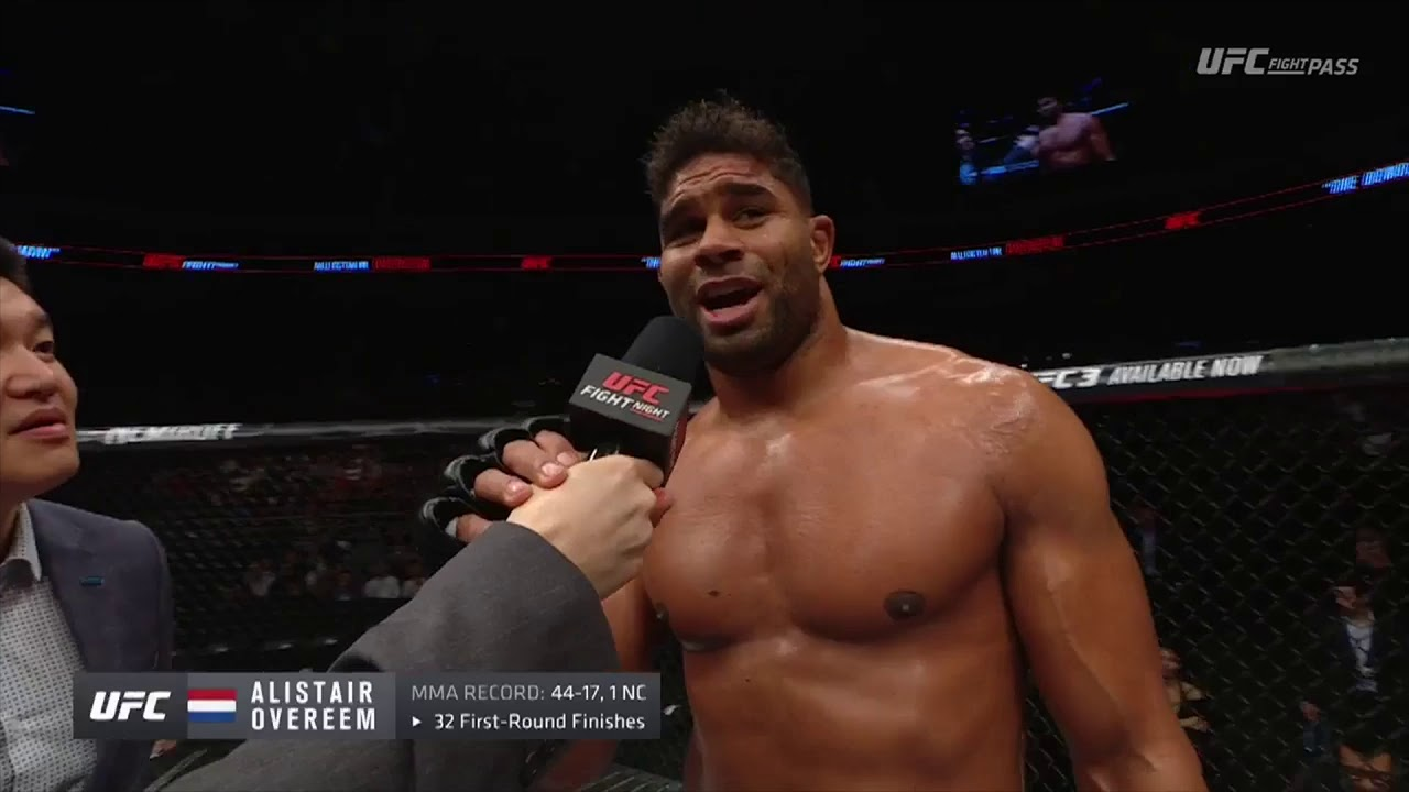 Fight Night Beijing Alistair Overeem Octagon Interview