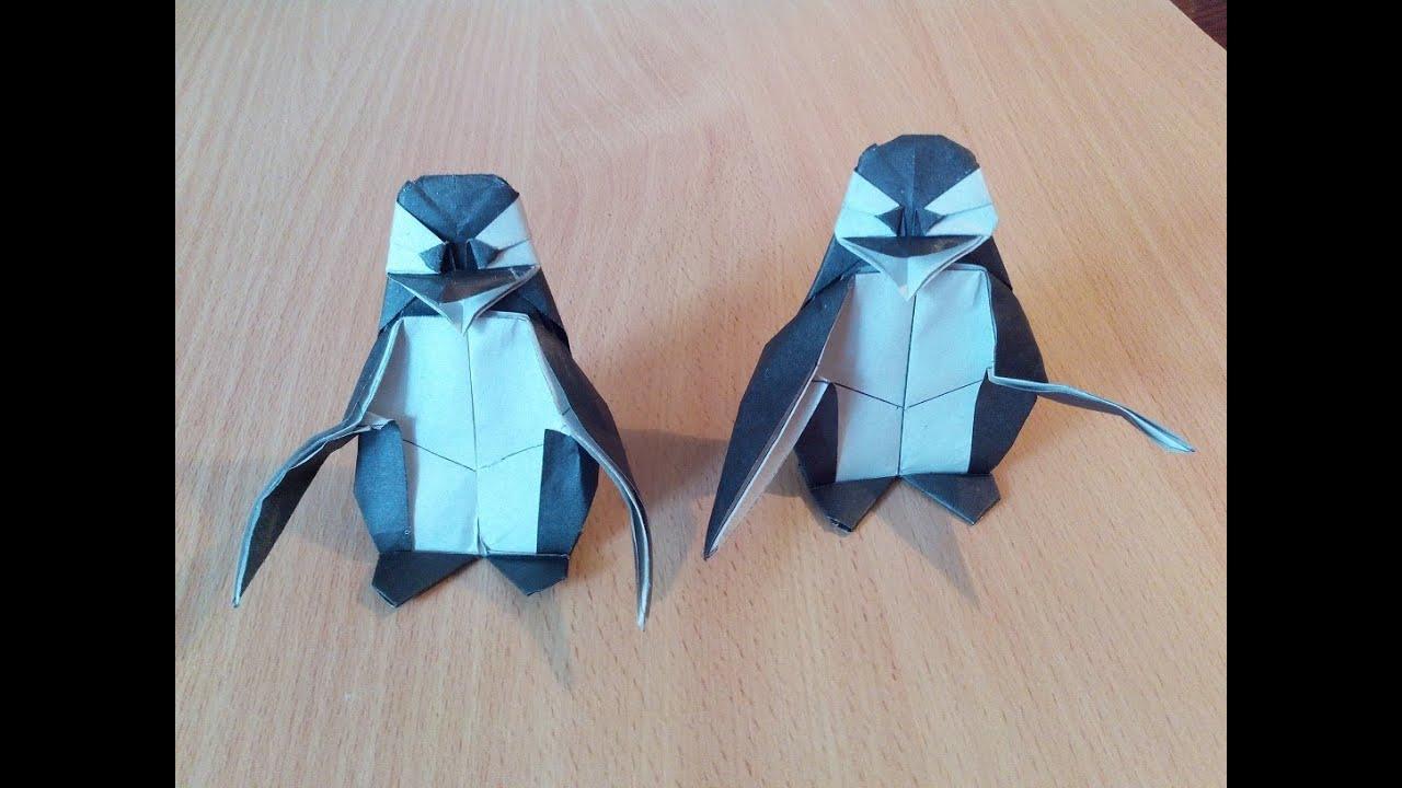 Пингвин оригами, origami penguin (Fernando Gilgado) - YouTube - photo#39