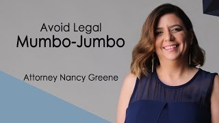 Avoid Legal Mumbo Jumbo