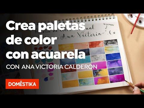 Creación de paletas de color con acuarela - Curso online de Ana Victoria