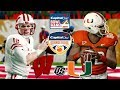 NCAA Football 18 🏈  Capital One Orange Bowl | #6 Wisconsin vs. #10 Miami | Capital One Bowl Mania!!