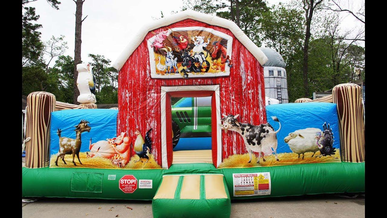 Farmyard Toddler Bounce House 360° Video | Call 281-606 ...