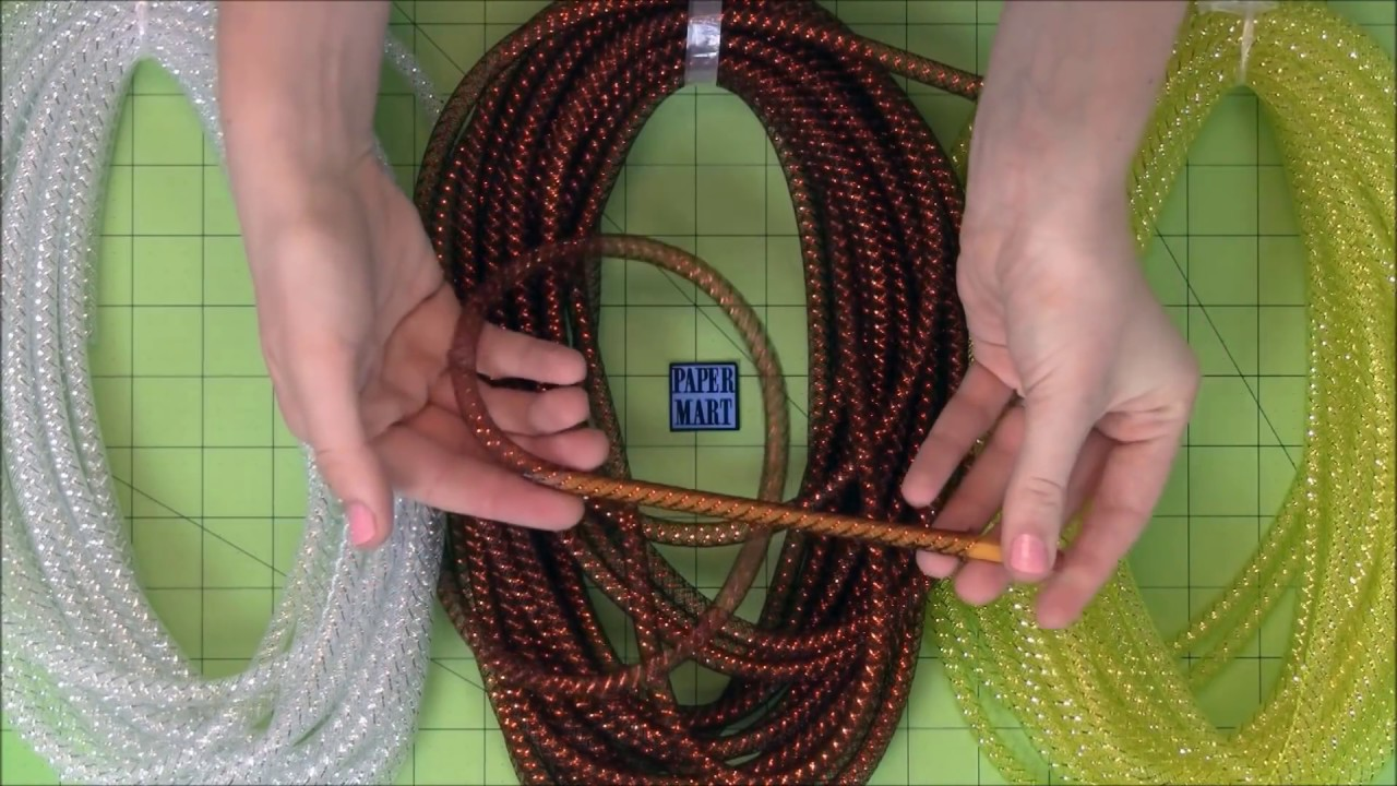 how to make a bow out of mesh tubing