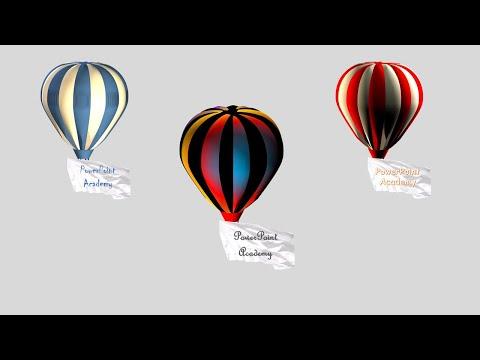 Create a parachute using microsoft PowerPoint | powerpoint animation tutorial