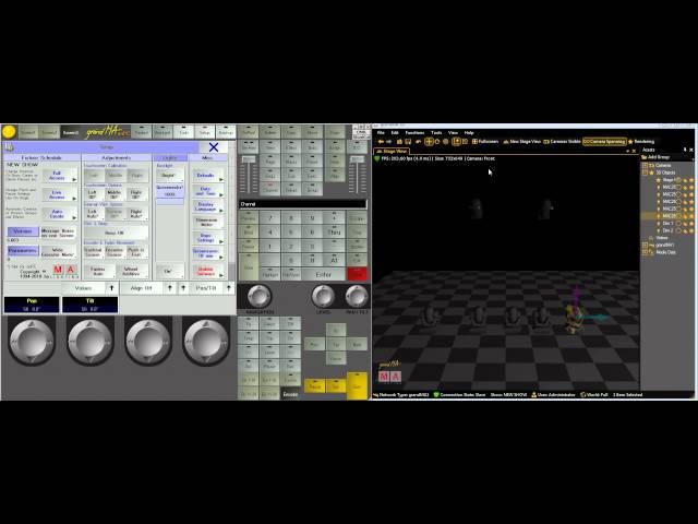 GrandMA Lighting Tutorials- Lesson 1 MA 1 and MA3d setup