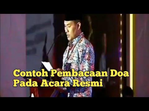 Contoh Pembacaan Doa pada Acara Resmi - YouTube