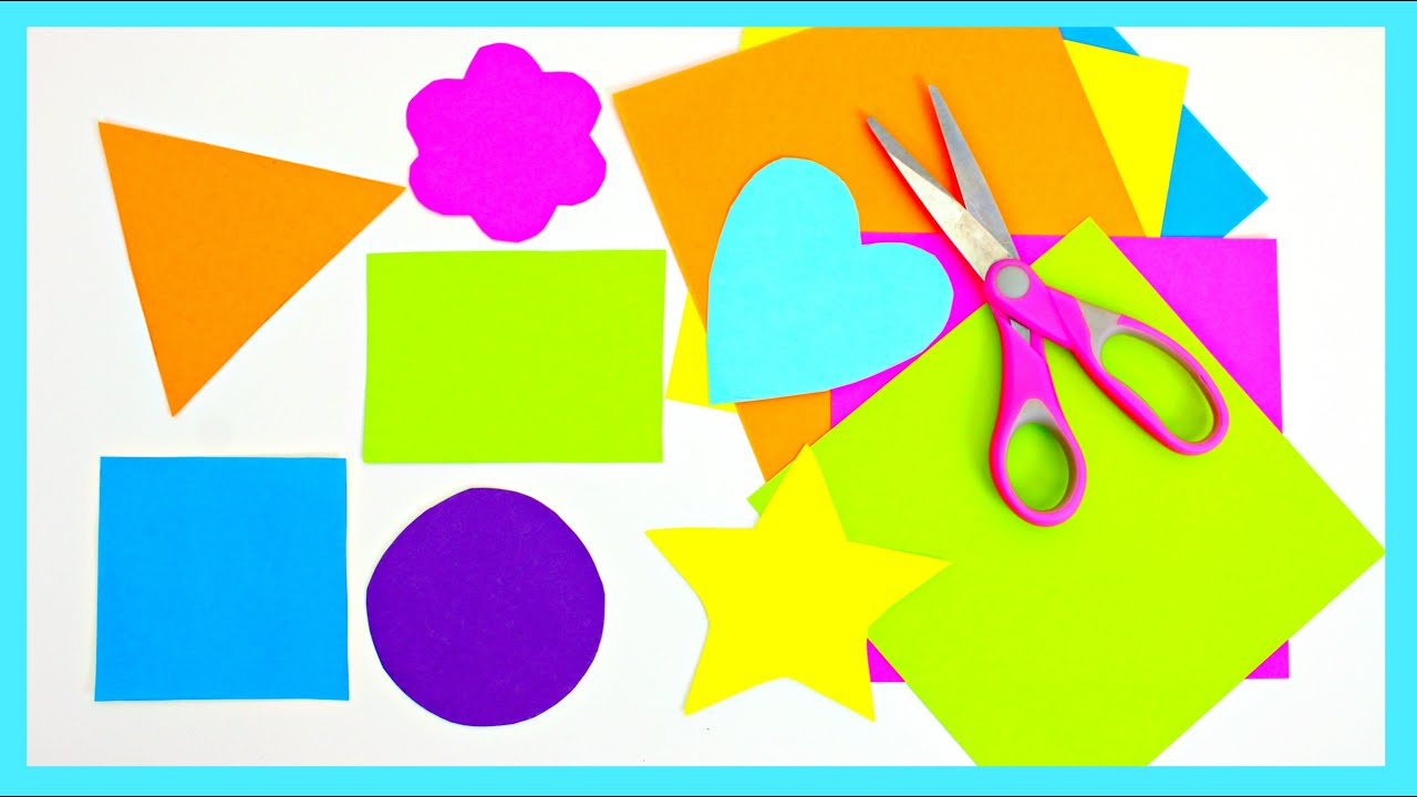 Papercraft Learn Shapes Learn To Cut Shapes From Paper with Scissors