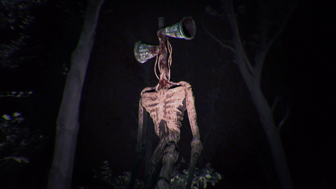 Siren Head spotted in creepy forest
