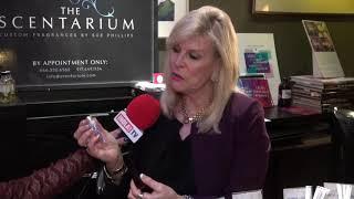 Fernanda Garcia from Hola TV interviews perfumista Sue Phillips   hola TV
