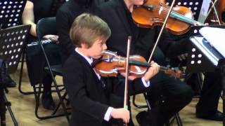 A.Vivaldi, Concert A moll - II and III movement - Victor Vasilev, 7 years old