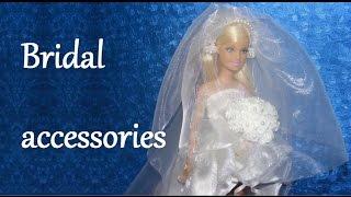 How to make a Doll Wedding Dress Tutorial - Bridal accessories DIY