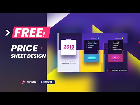 Free Pricesheet Design    Template