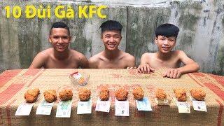 Hữu Bộ | Thử Thách Ăn Hết 10 Chiếc Đùi Gà Rán KFC Nhận Tiền Thưởng thumbnail