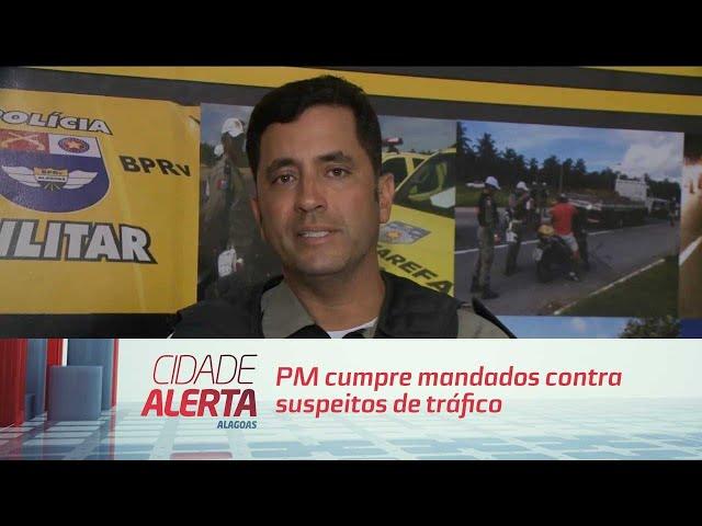 PM cumpre mandados contra suspeitos de tráfico e comerciantes de armas.