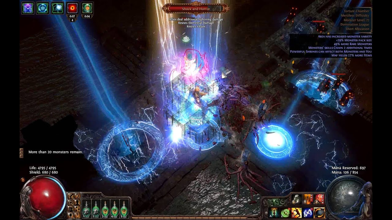 path of exile torture chamber map boss lvl 72 youtube