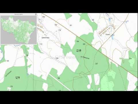 Топографическая карта Владимирской области для OziExplorer