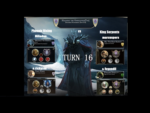 AoW3 2016 PBEM 2vs2 Tournament - Round 2 - Phoenix Rising vs King Serpents - turn 16 (commented)