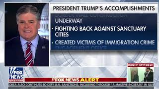 Sean Hannity's Scrolling List of Donald Trump's Accomplishments