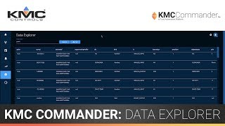 KMC Commander: Data Explorer